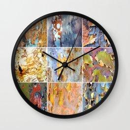 Rainbow Bark Wall Clock