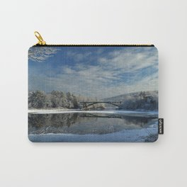 River View - Finally Looks Like Winter Carry-All Pouch