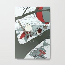 Todd Climbs a Tree Metal Print