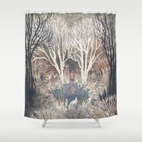 jack frost Shower Curtains featuring Frost by Ulla Thynell