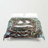 heavy metal Duvet Covers featuring Heavy Metal by cahill wessel