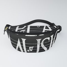 Music Lover Musical Notes Gift Motif Fanny Pack