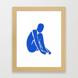 blue nude 1 Framed Art Print