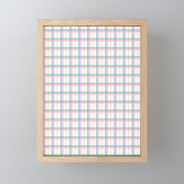 Small summer plaid graphic seamless pattern. Framed Mini Art Print