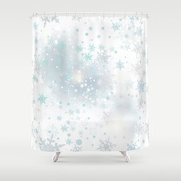 Beautiful light vector background with snowflakes Shower Curtain