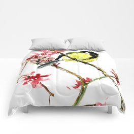 Great Tit and Spring Blossom Comforters