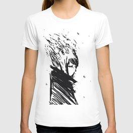 The grey  T-shirt