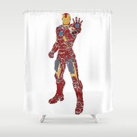 ironman Shower Curtains featuring Ironman by PlayWithFireDieInIce