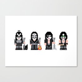Pixel Kiss Canvas Print