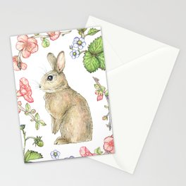 Floral Bunny Stationery Cards