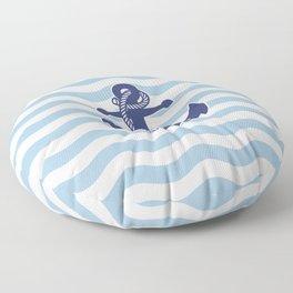 Sailor Stripes and Anchor Pattern Light Blue 12 Floor Pillow