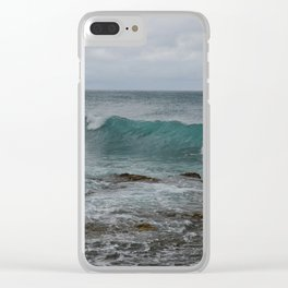 Crashing Wave, Turtle Bay Clear iPhone Case