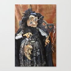 Rucus Studio Late to the Party - Pumpkin Lady Canvas Print