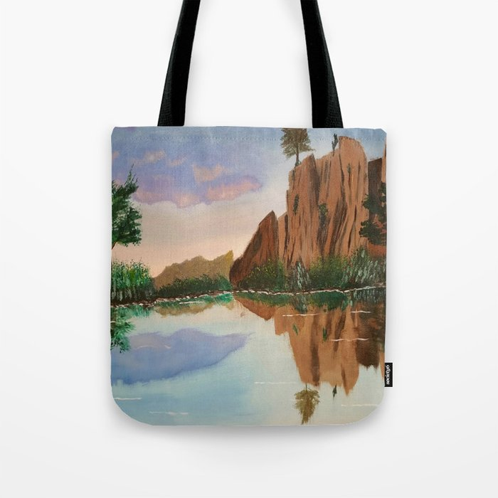 Cliffside Reflections Tote Bag