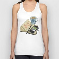 internet Tank Tops featuring Internet Addict by Sally Renshaw