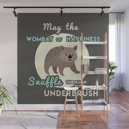 Wombat of Happiness Wall Mural