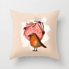 Spring birdy / Nr. 5 Throw Pillow