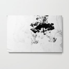 On the Gray Scale Metal Print