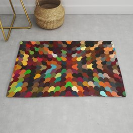 carly - vivid colourful playful modern abstract pattern Rug