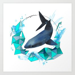 Swimming wonder Art Print