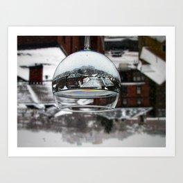 Portland Snow Globe (2) Art Print