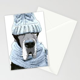 Great Dane Winter is Here Stationery Cards
