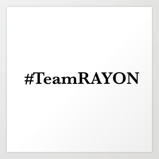 #TeamRAYON Shower Curtain Art Print