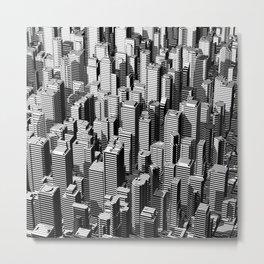 Urban Lines B&W Metal Print