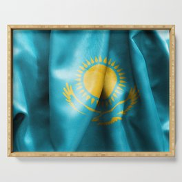 Kazakhstan Flag Serving Tray