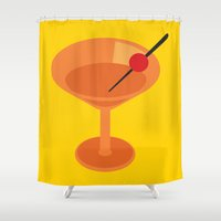 cocktail Shower Curtains featuring Cocktail by Superlust