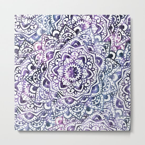 STARRY NIGHT MANDALA Metal Print