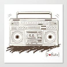 I {❤} RADIO Canvas Print