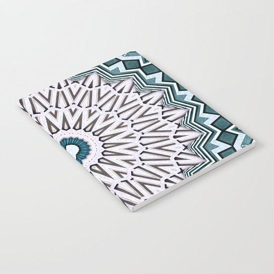 Turquoise Kaleidoscope Notebook