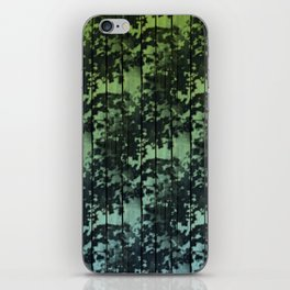 Leaf Shadows on Deck - green2turquoise iPhone Skin