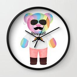 Punk Rainbow Bondage Bear Full Wall Clock