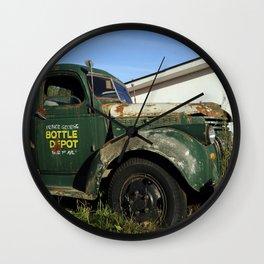 Bottle Depot Truck 2 Wall Clock