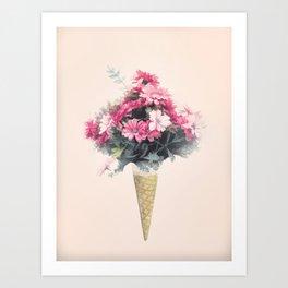 Flowers cornet Art Print