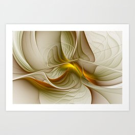 Abstract With Colors Of Precious Metals, Fractal Art Art Print