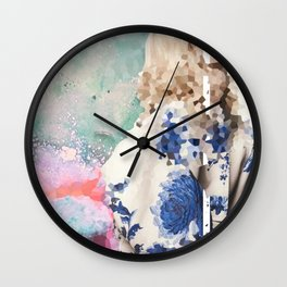 Crystal Explosions Wall Clock