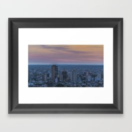 Guayaquil Aerial Cityscape View Sunset Scene Framed Art Print