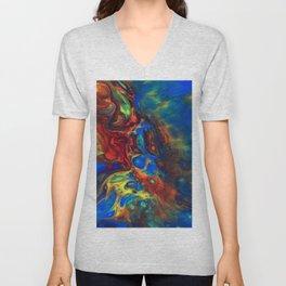 Explotion of colours Unisex V-Neck