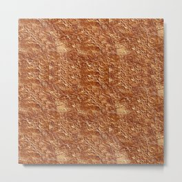 copper texture Metal Print
