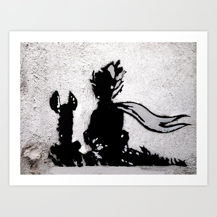 The little prince and the fox - stencil for the LIFE CURRENT WALL series  Art Print by artito