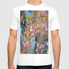 Pretty In Pink White MEDIUM Mens Fitted Tee