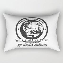 Arnold Schwarzenegger Venice Beach Muscle Beach Rectangular Pillow