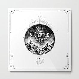 Rattle The Stars BW Metal Print