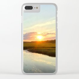 Sunset on Jones Road Clear iPhone Case