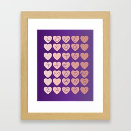 Love you to the moon and back   Colorful hearts design Framed Art Print