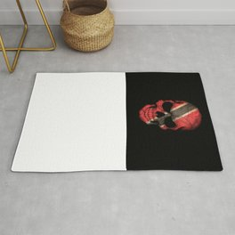 Dark Skull with Flag of Trinidad and Tobago Rug
