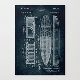 1948 - Surfboard Canvas Print